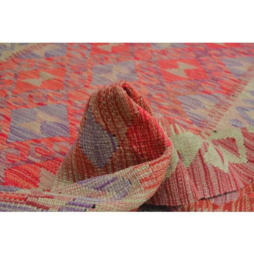 moderen stripe Vloerkleed Tapijt Kelim 221x170 cm Kleed Hand Geweven Kilim