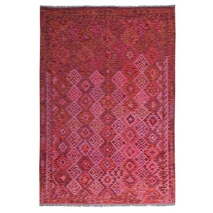 exclusive Sheep Wool Hand woven 246x168 cm Afghan kilim Carpet Rug 8'0x5'5