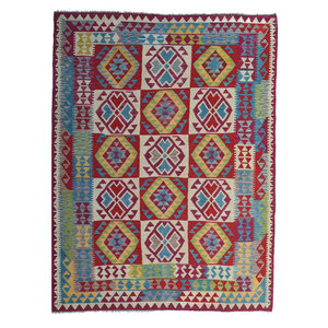 exclusive  Kelim Teppich 234x181 cm afghan kilim teppich