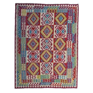 exclusive  Vloerkleed Tapijt Kelim 234x181 cm Kleed Hand Geweven Kilim