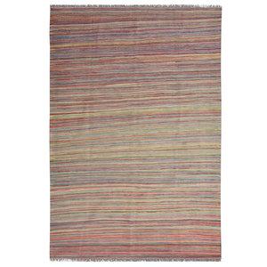 modern stripe Vloerkleed Tapijt Kelim 250x173 cm Kleed Hand Geweven Kilim