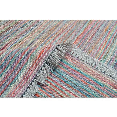 modern stripe Vloerkleed Tapijt Kelim 240x166 cm Kleed Hand Geweven Kilim