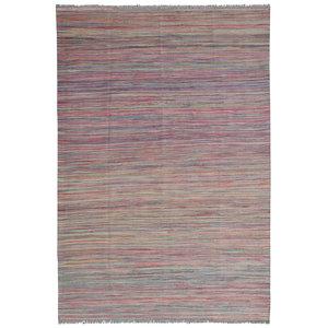 modern stripe  Wool Hand woven 240x166 cm Afghan kilim Carpet Rug 7'8x5'4