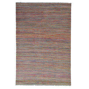 moderen Vloerkleed Tapijt Kelim 236x167 cm Kleed Hand Geweven Kilim