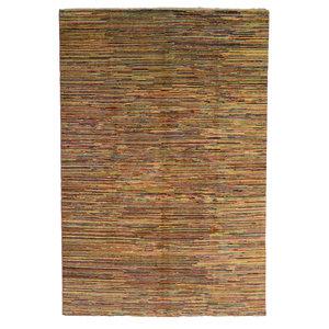 Handgeknüpft Modern stripe  295x204 cm   Abstrakt Wolle Teppich multi