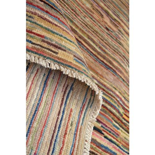 Handgeknoopt Modern stripe  tapijt 295x204 cm  oosters kleed vloerkleed  multi