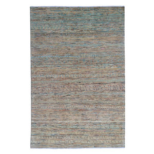 Hand knotted 7'8x5' Modern  barjasta  Wool Rug 240x165 cm  Abstract Carpet