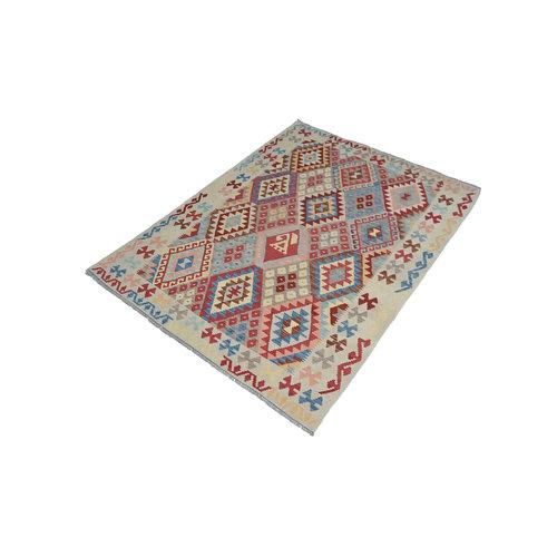 Sheep Quality Wool Hand woven 196x150 cm Afghan kilim Carpet Kilim Rug 6'4x4'9ft