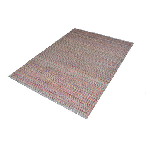 modern stripe multi color  Vloerkleed Tapijt Kelim 239x178 cm Kleed Hand Geweven Kilim