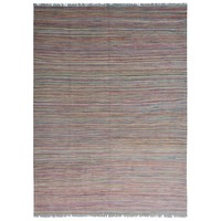 modern stripe multi color  Vloerkleed Tapijt Kelim 239x178 cm Kleed Hand Geweven Kilim