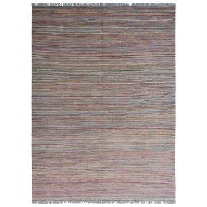 modern stripe multi colo Kelim Teppich 239x178 cm afghan kilim teppich