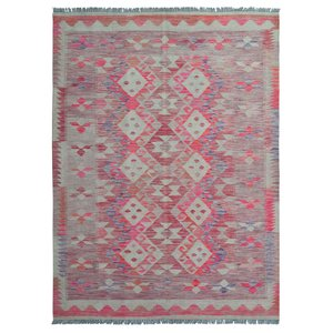 exclusive Sheep Wool Hand woven 234x171 cm Afghan kilim Carpet Rug 7'6x5'6