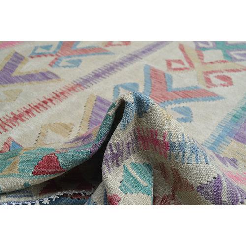exclusive Sheep Wool Hand woven 238x187 cm Afghan kilim Carpet Rug 7'8x6'1