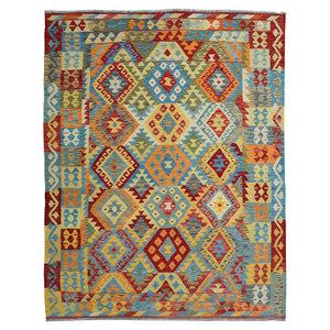 exclusive Sheep Wool Hand woven 244x178 cm Afghan kilim Carpet Rug 8'0x5'8