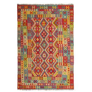exclusive  Kelim Teppich 256x171 cm afghan kilim teppich