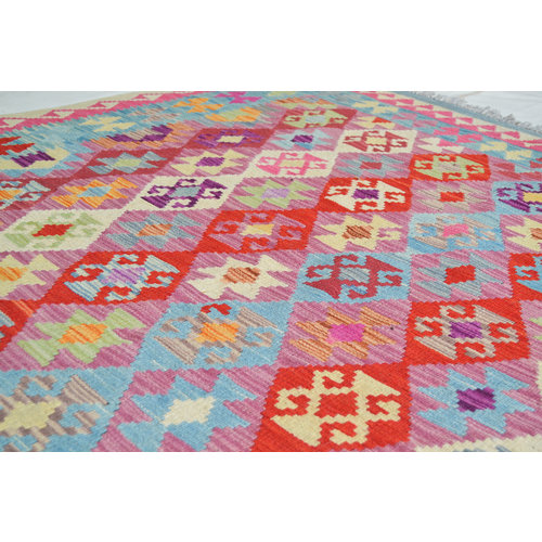 exclusive  Vloerkleed Tapijt Kelim 239x176 cm Kleed Hand Geweven Kilim