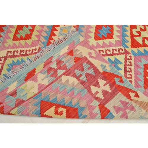 exclusive  Vloerkleed Tapijt Kelim 245x173 cm Kleed Hand Geweven Kilim