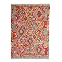 exclusive Sheep Wool Hand woven 245x173 cm Afghan kilim Carpet Rug 8'0x5'6