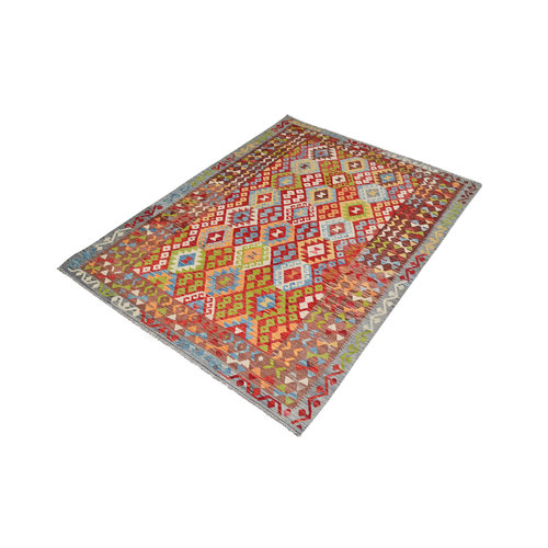 exclusive  Vloerkleed Tapijt Kelim 242x178 cm Kleed Hand Geweven Kilim