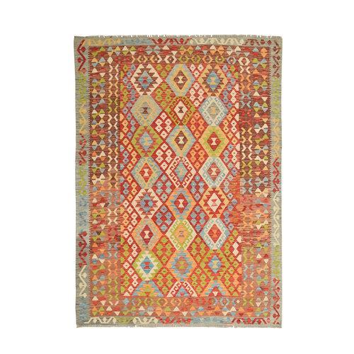 exclusive  Kelim Teppich 242x178 cm afghan kilim teppich