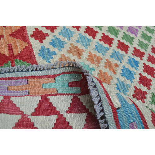 exclusive  Vloerkleed Tapijt Kelim 244x168 cm Kleed Hand Geweven Kilim