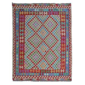 exclusive  Kelim Teppich 244x168 cm afghan kilim teppich