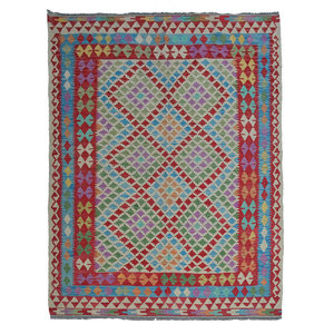 exclusive Sheep Wool Hand woven 244x168 cm Afghan kilim Carpet Rug 8'0x5'5