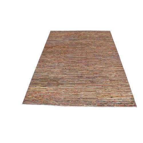 Handgeknoopt Moderne Design  stripe  tapijt 292x203 cm  vloerkleed  multi  kleur