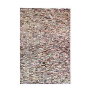 Handgeknüpft Modern stripe line 245x166 cm   Abstrakt Wolle Teppich multi