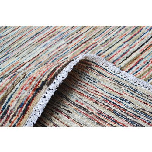 Handgeknoopt Modern stripe line tapijt 245x166cm  oosters kleed vloerkleed  multi