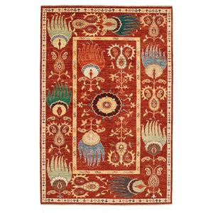 Handgeknüpft Suzani Teppich  301x199 cm Wolle Orientalisch
