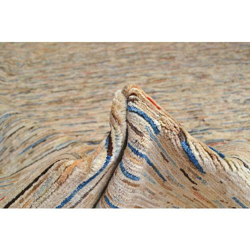 Handgeknoopt Modern stripe Gabbeh tapijt 290x197 cm  oosters kleed vloerkleed  multi