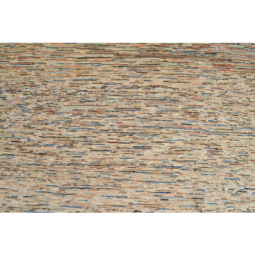 Hand knotted 9'5x6' Modern stripe Gabbeh Wool Rug 290x197cm Abstract Carpet