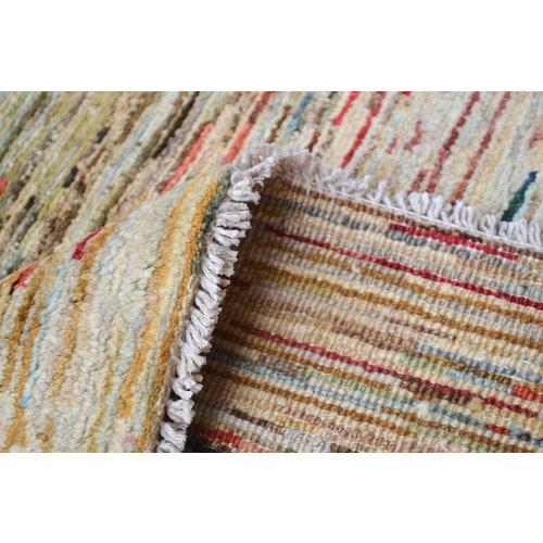 Handgeknoopt Modern stripe Gabbeh tapijt 298x204 cm  oosters kleed vloerkleed