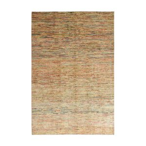 Hand knotted 9'7x6'6 Modern  stripe gabbeh  Wool Rug 298x204 cm Abstract Carpet