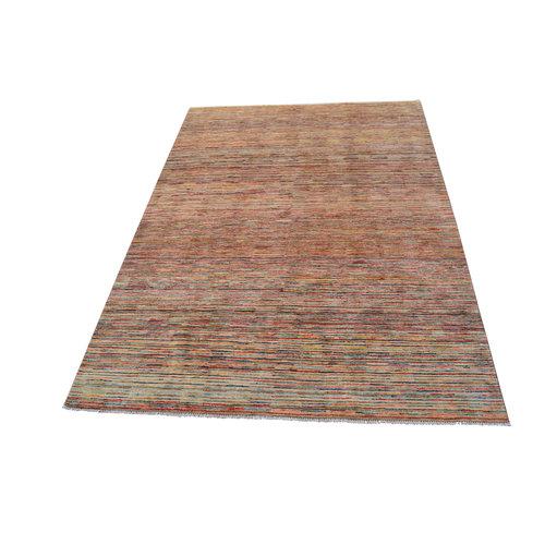 Handgeknoopt Modern Stripe Gabbeh  tapijt 296x199 cm  oosters kleed vloerkleed