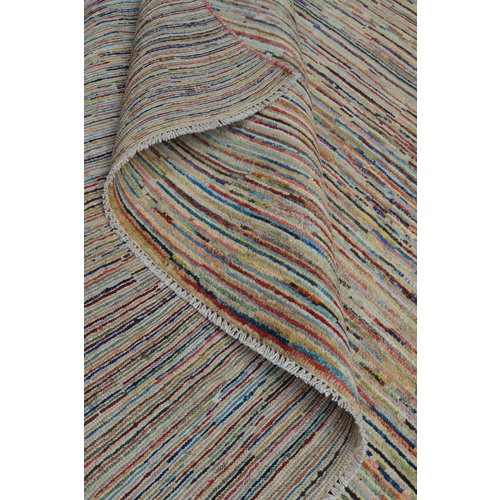 Handgeknoopt Modern stripe Gabbeh tapijt 301x198 cm  oosters kleed vloerkleed  multi