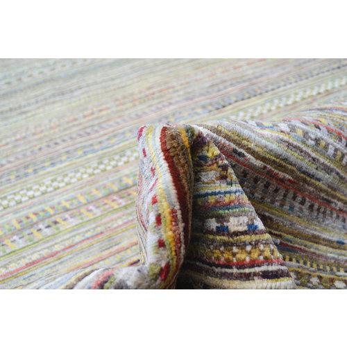 Handgeknoopt Modern Art Deco tapijt 235x171cm  oosters kleed vloerkleed  multi