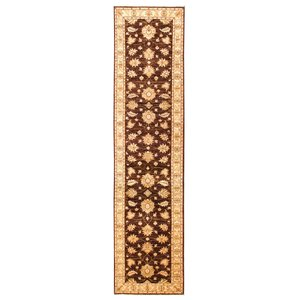 Farahan Hand knotted 11'90x2'72 brown ziegler runner  rug  farahan Wool Rug 362x83 cm