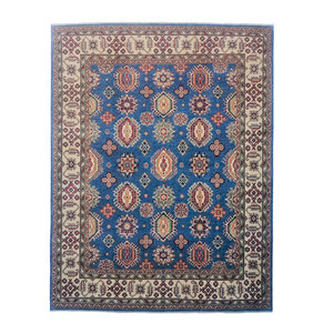 Blue Hand knotted 10'x8'2 wool kazak area rug 305x250 cm Oriental carpet