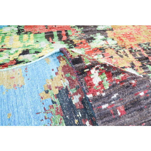 Handgeknoopt Modern Art Deco tapijt 300x252 cm  oosters kleed vloerkleed