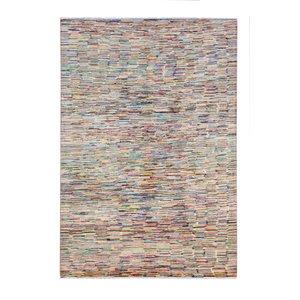Handgeknüpft Modern stripe  249x166 cm   Abstrakt Wolle Teppich
