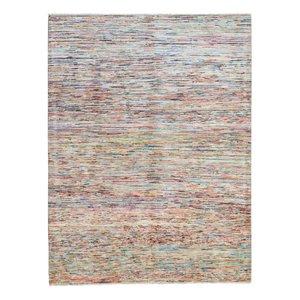 Handgeknüpft Modern stripe 235x180 cm   Abstrakt Wolle Teppich