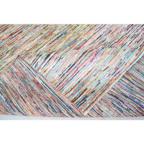 Handgeknoopt Modern stripe tapijt 235x180cm  oosters kleed vloerkleed