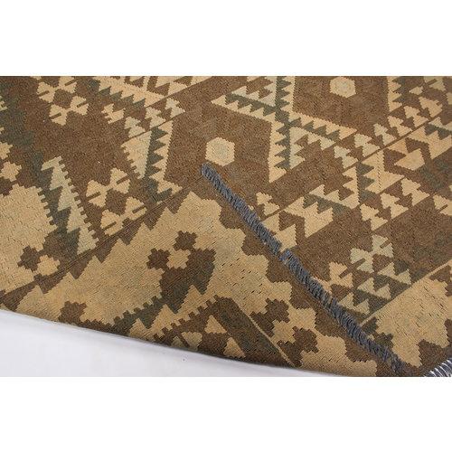 Vloerkleed Tapijt Kelim 300x188 cm Kleed Hand Geweven Natuurlijk Kelim