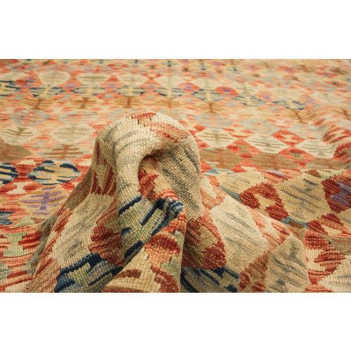 exclusive  Vloerkleed Tapijt Kelim 350x243 cm Kleed Hand Geweven Kilim