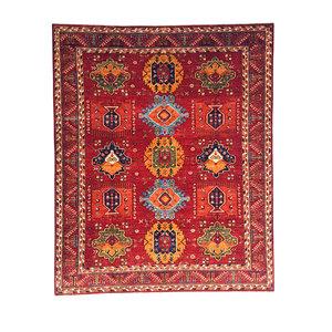 super fein oriental kazak teppich 301x252 cm
