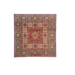 super fijn oriental kazak vloerkleed 244x250 cm