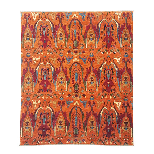 (9'4 x 8'1) feet super fine oriental kazak rug 289x247 cm