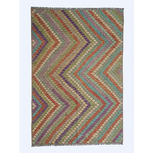 9'84x6'72 exclusive Sheep Wool Hand woven Afghan kilim Carpet Rug